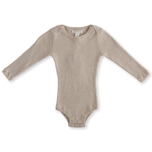 Ribbed Essential Bodysuit - Oatmeal