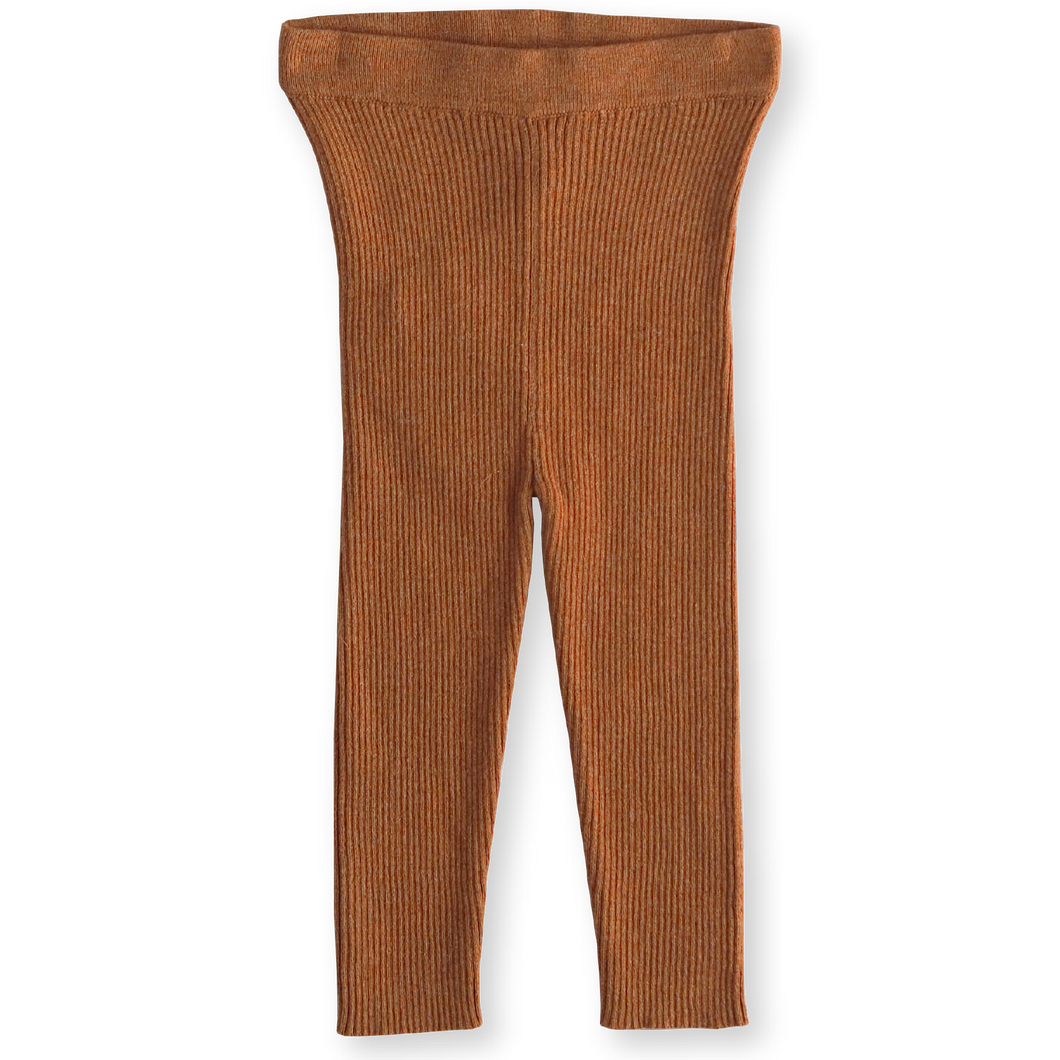 Ribbed Essential Leggings - Terracotta