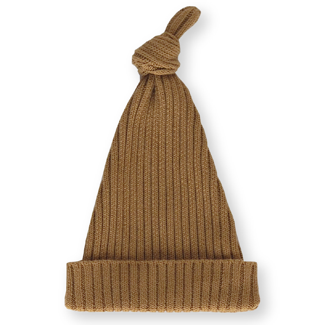 Knotted Beanie - Harvest Gold