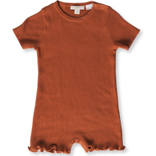 Load image into Gallery viewer, Ribbed Romper - Rust