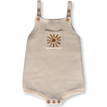 Load image into Gallery viewer, Pearl Knit Sun Romper - Milk