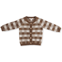 Load image into Gallery viewer, Gingham Cardigan - Earth & Clay
