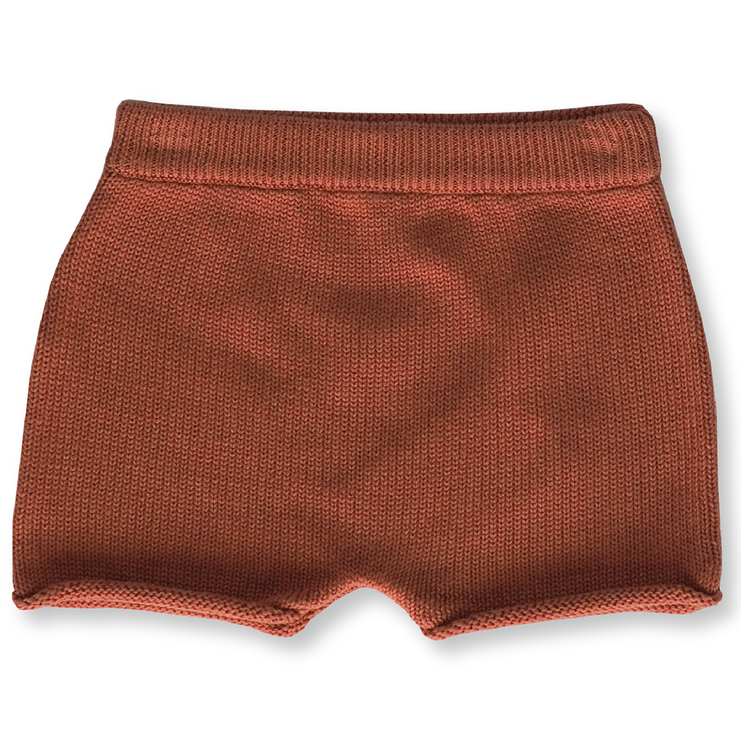 Relaxed Knitted Short - Rust