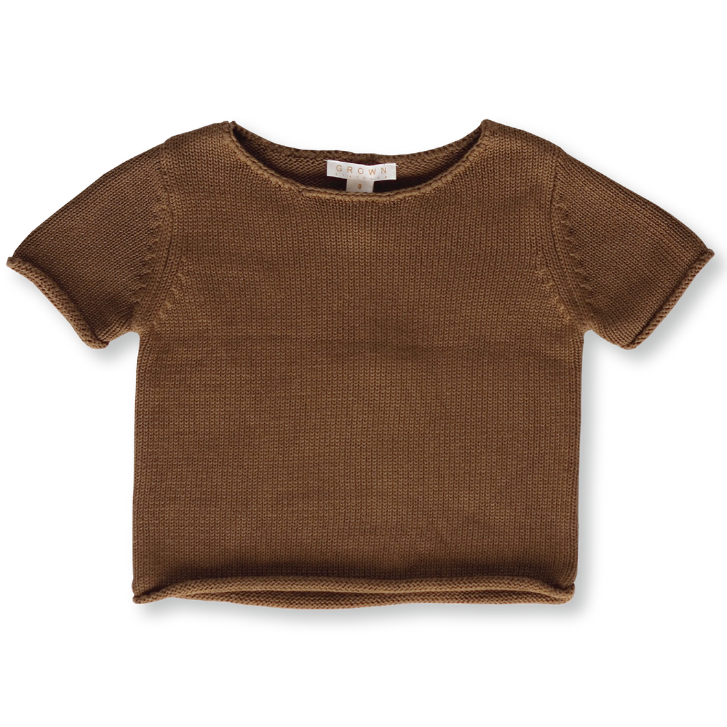 Relaxed Knitted Tee - Earth