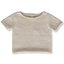 Load image into Gallery viewer, Relaxed Knitted Tee - Milk