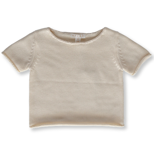 Relaxed Knitted Tee - Milk
