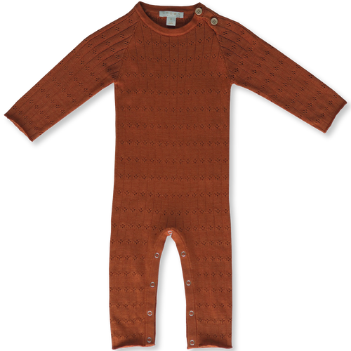 Pointelle Jumpsuit - Rust