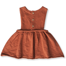Load image into Gallery viewer, Linen Slub Yarn Pinafore - Rust