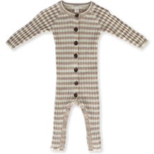 Load image into Gallery viewer, Ribbed Stripe Speckle Jumpsuit - Fawn