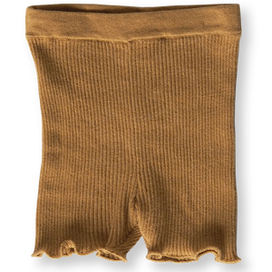 Ribbed Bike Shorts - Harvest Gold