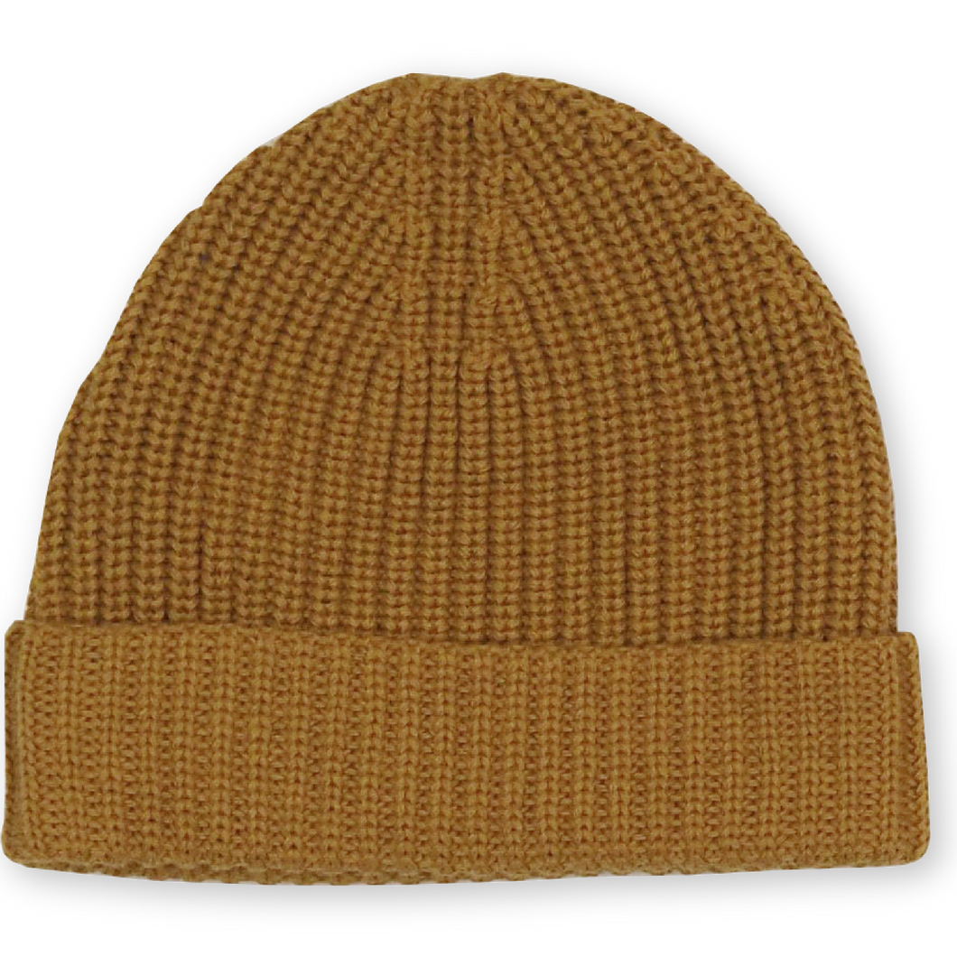 Ribbed Essential Beanie - Marigold