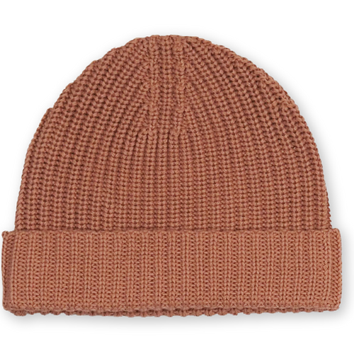 Ribbed Essential Beanie - Terracotta Rose