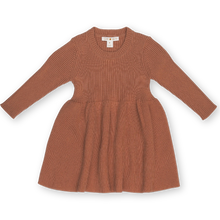 Load image into Gallery viewer, Ribbed Dress - Terracotta Rose