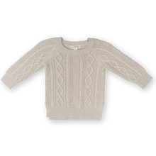 Load image into Gallery viewer, Cable Knit Pull Over - Oatmeal Marle