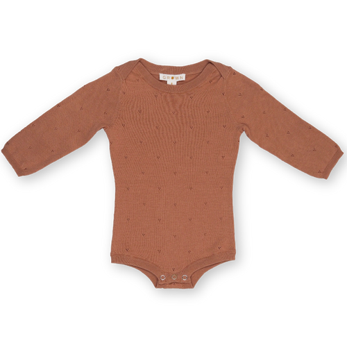 Pointelle Bodysuit - Terracotta Rose