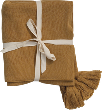 Load image into Gallery viewer, Tassel Baby Blanket - Harvest Gold