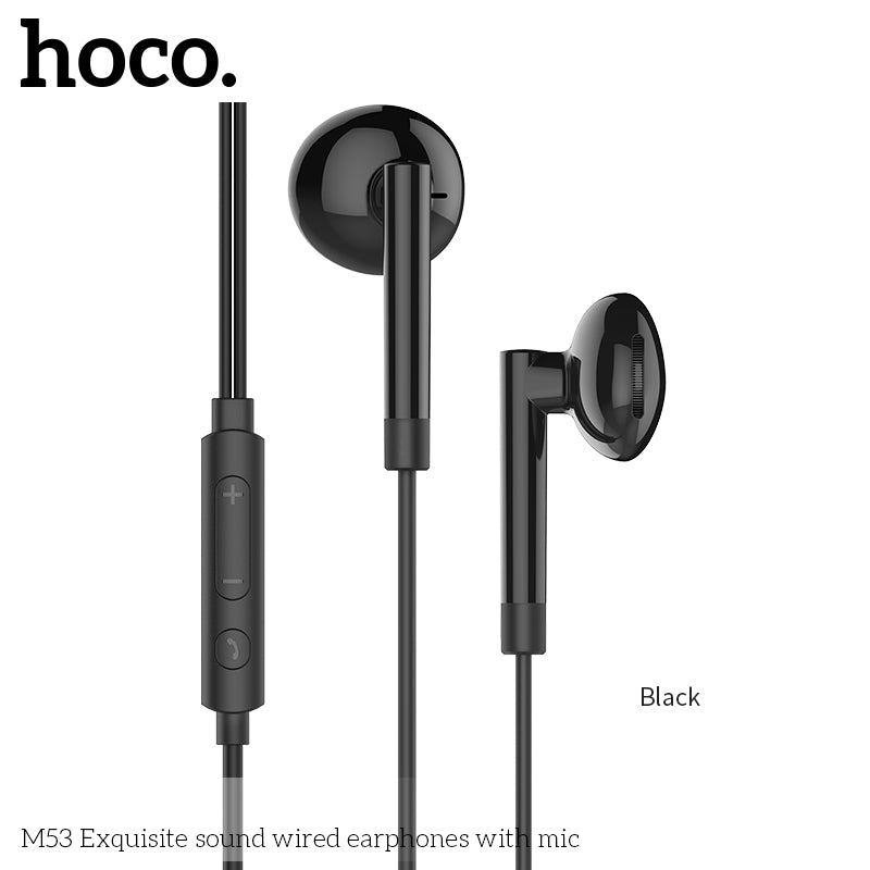 HOCO M53 Earphones 3 5mm Wired Control Earbuds Headset with Microphone for  iPhone Samsung Sony LG HUAWEI Android Phones High Quality Earphones New