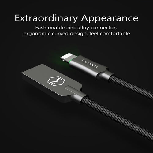 Mcdodo Knight Series Automatic power-off For iPhone XS MAX XR X 8 7 6S USB Lightning Charging Charger Cable Data Cord - Hot Phone Tech