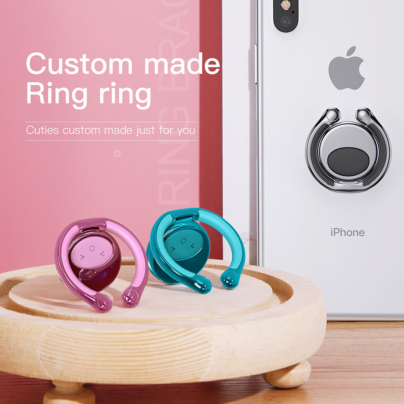 Baseus Cute Phone Ring Holder Slim Thin Phone Holder For iPhone Samsung HTC HUAWEI Google LG Phone Ring Holder Stand Holder for Smartphone Support - Hot Phone Tech
