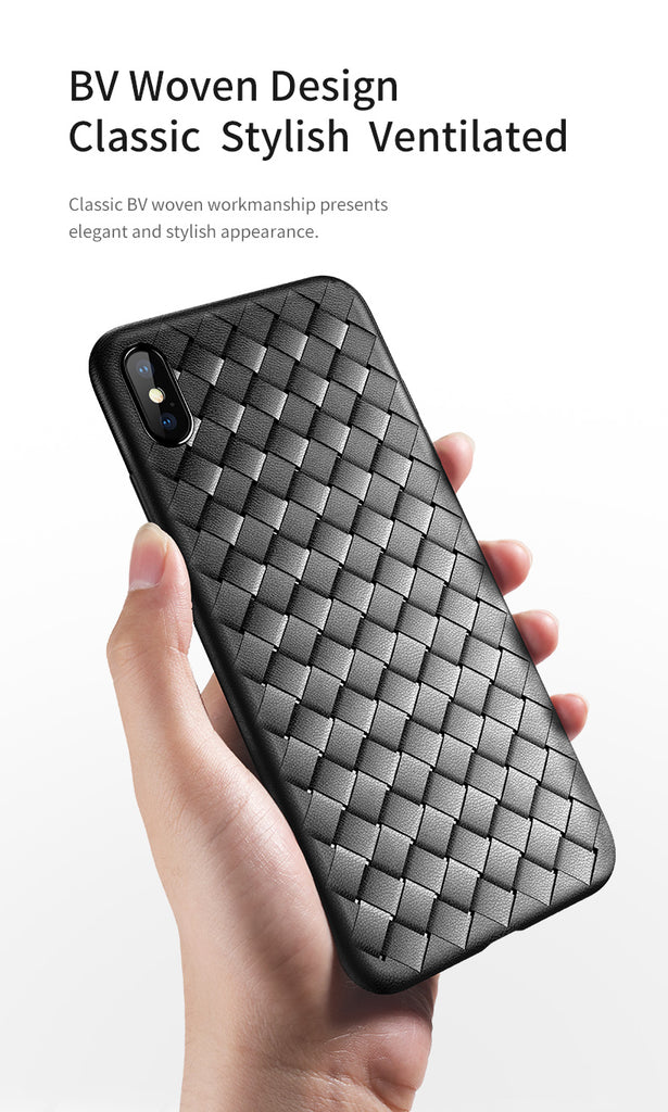 ROCK For iPhone X/XS/XS MAX Case Soft Braid Case Back Cover Weave Protector Slim Thin Interlaced TPU Shell - Hot Phone Tech