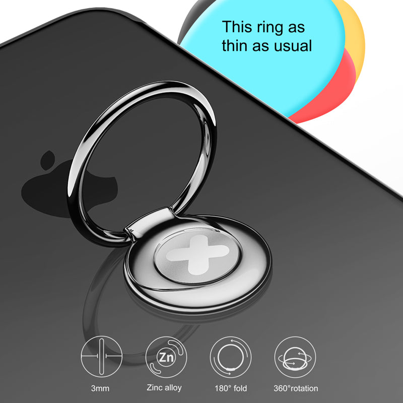 Baseus Phone Ring Holder Universal 360 Rotation Finger Ring Holder Stand For iPhone LG Google HUAWEI HTC Samsung  Mobile Ring Phone Holder - Hot Phone Tech