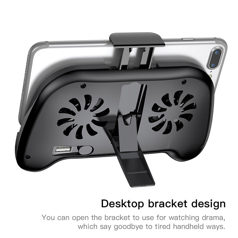Baseus Mobile Phone Cooler For iPhone Xs Max Xr X Samsung S10 S9 Gamepad Game Holder Stand Cooling Controller Support Charging - Hot Phone Tech