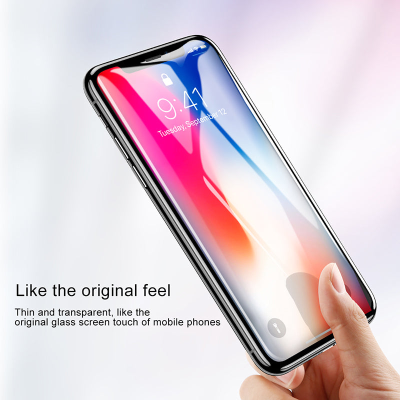 Baseus Front Tempered Glass Film For iPhone X/XS 0.23mm Soft Edge Pet Full Coverage Ultra Thin Screen Protector Glass - Hot Phone Tech