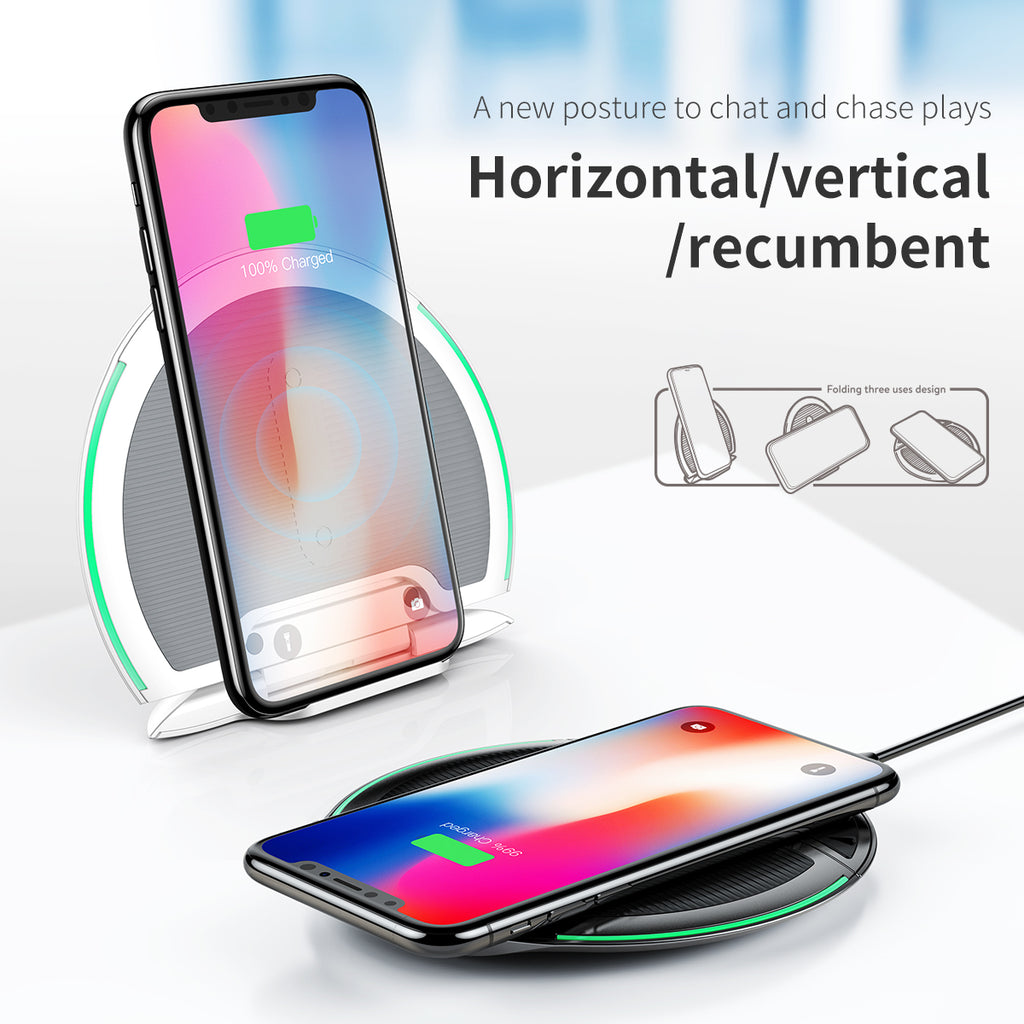 Baseus 10W Foldable Qi Wireless Charger for iPhone XS MAX XS XR  X 8 Plus Multifunction Fast Charging QI Wireless Pad For Samsung LG Google HUAWEI - Hot Phone Tech
