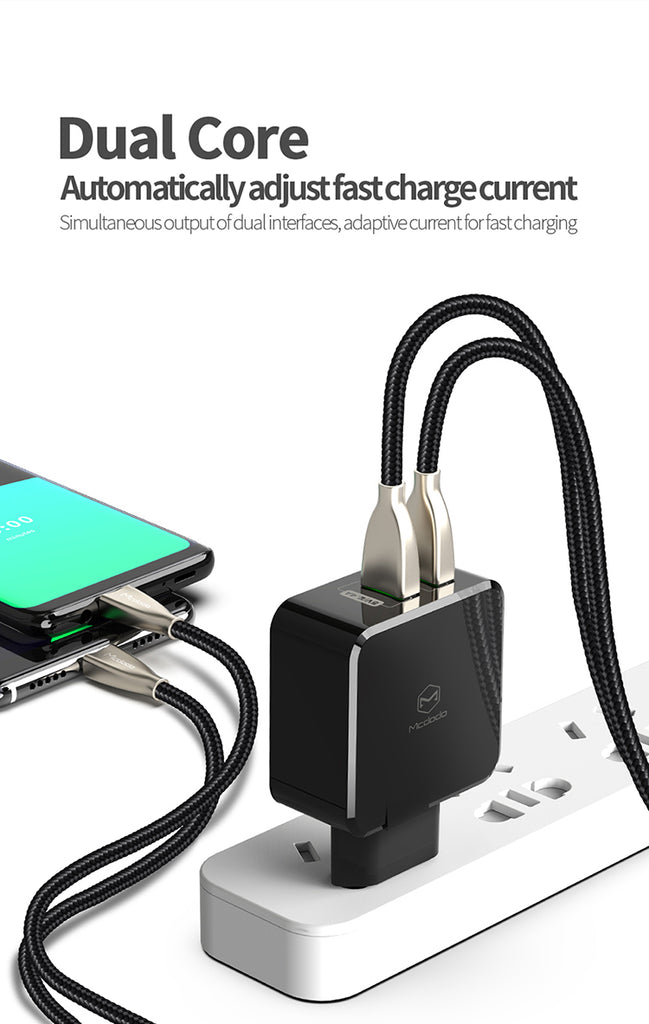 Mcdodo EU Adapter USB Charger 5A Super Fast charging SCP Mobile Phone Charger For Samsung LG Sony LG HUAWEI - Hot Phone Tech