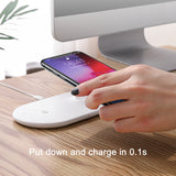 Baseus 10W 2 In 1 Qi Wireless Charger For iPhone XS Max XR X Samsung Fast Wireless Charging Pad For iWatch 3 2 Desktop Charger - Hot Phone Tech