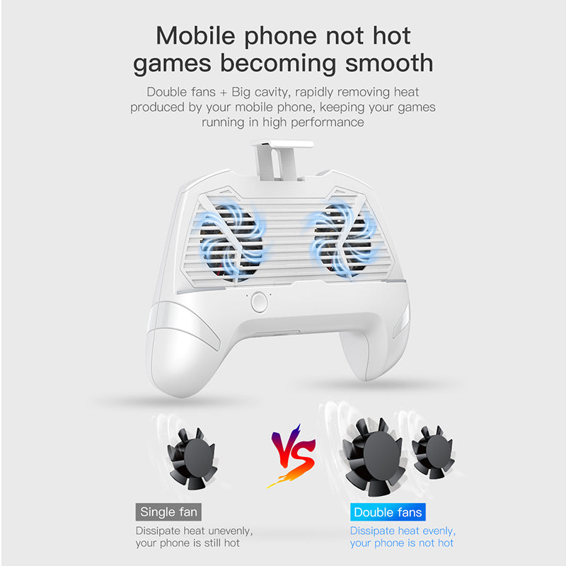 Baseus Gamepad Game Handle Holder For iPhone Samsung Google HUAWEI LG HTC Mobile Phone Holder Cooling Phone Game Controller Support Charge - Hot Phone Tech