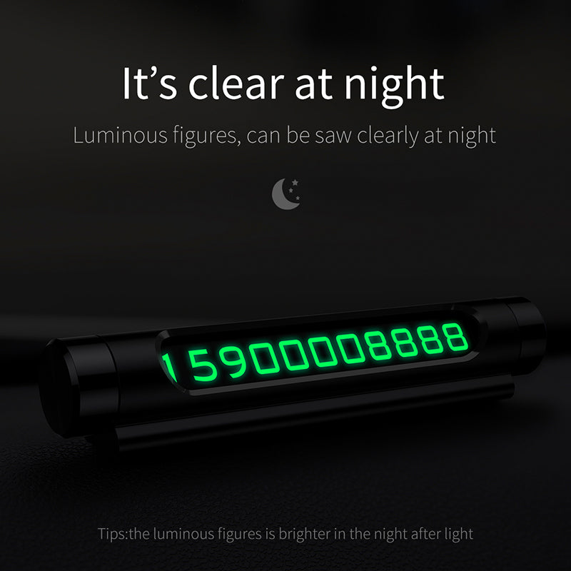 Baseus Luminous Car Temporary Parking Card Holder Car Styling Mobile Phone Number Plate Card Rocker Switch Auto Accessories - Hot Phone Tech