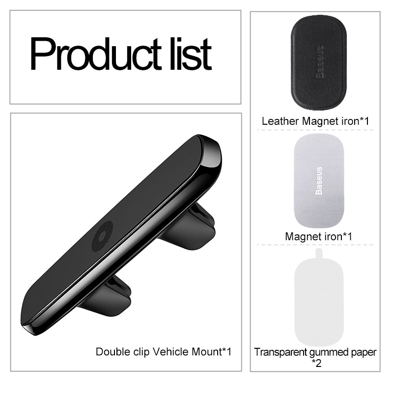 Baseus Car Phone Holder For Samsung HTC LG HUAWEI Google  Mobile Phone Stand Car Holder for iPhone XS MAX XS XR 8 6 6s 7 Car Mount Strong Magnetic Phone Holder - Hot Phone Tech