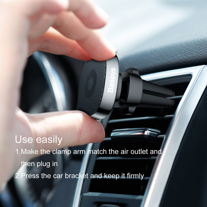 Baseus Magnetic Car Holder Air Outlet Phone Stand Holder Mount For iPhone X Xs XR Samsung Google HTC LG HUAWEI Magnet Mobile Phone Holder in car - Hot Phone Tech