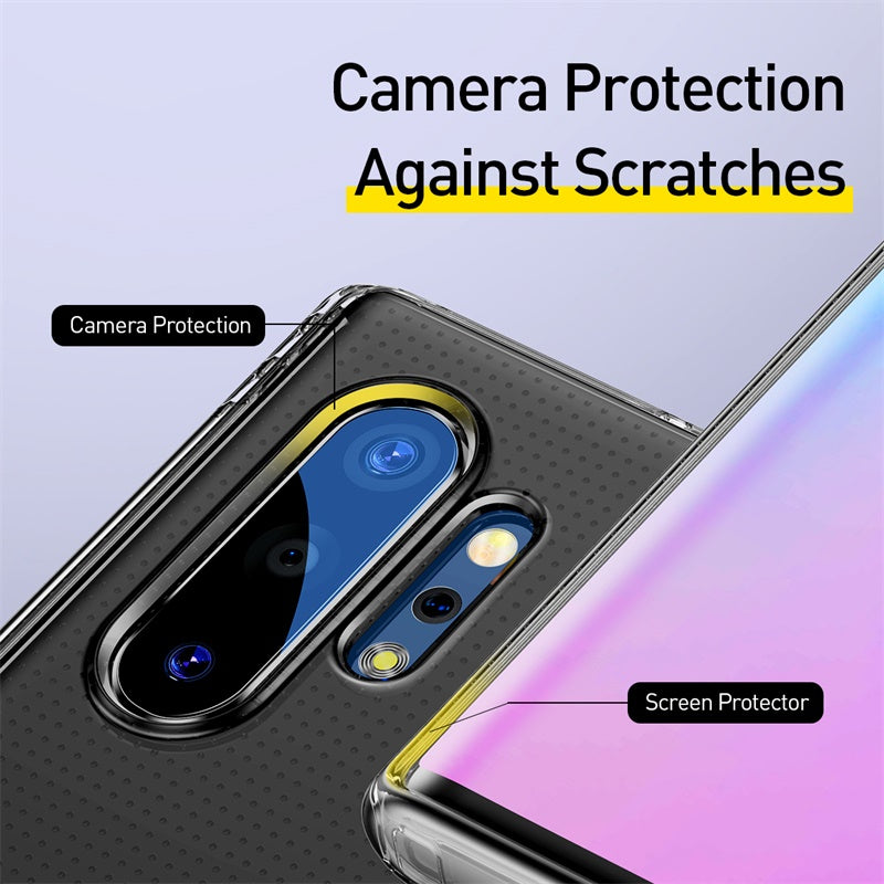 Baseus Transparent Case For Samsung Galaxy Note 10 10 Plus Coque Shockproof Soft TPU Back Cover - Hot Phone Tech
