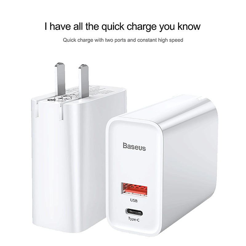 Baseus Quick Charge 4.0 3.0 USB Charger 5A for Huawei Samsung Google LG HTC 30W QC 4.0 3.0 Quick Charger PD 3.0 Fast Charger - Hot Phone Tech