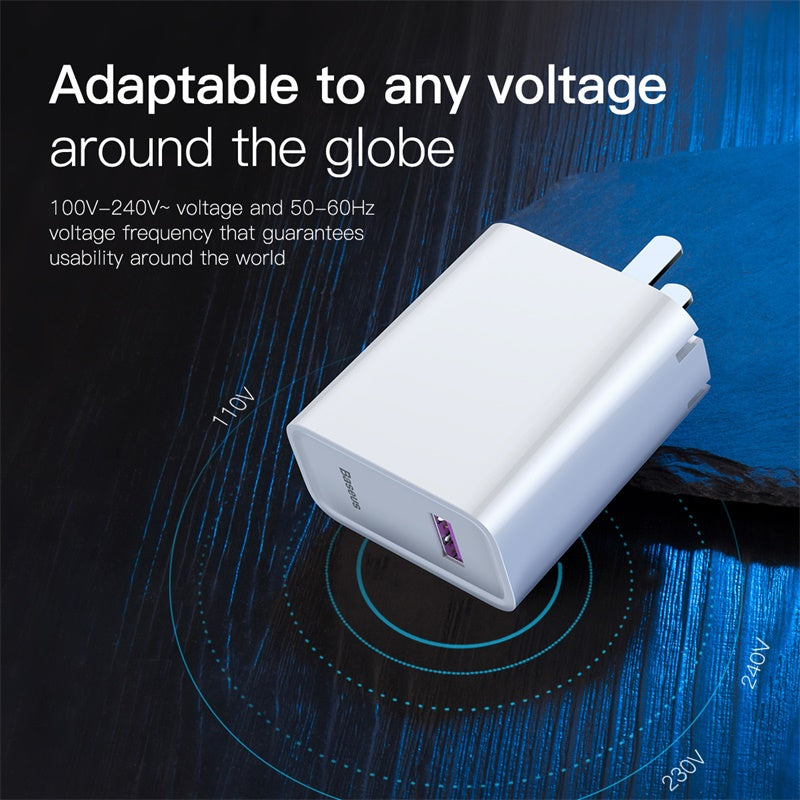 Baseus 22.5W US Plug USB Charger Travel Wall Charger Adapter Protable Mobile Phone USB Charger For iphone XS MAX XS XR X 8 7 Samsung LG Google HTC HUAWEI - Hot Phone Tech