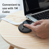Baseus Round Wireless Charger For iPhone Watch 4 3 2 1 QI Wireless Charger For Apple Watch Wireless Charge With 1Meter Usb Cable - Hot Phone Tech