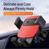 Baseus Car Phone Holder Bracket Gravity Mobile Stand Support Holder Car Air Vent Mount Clip For Huawei iPhone Samsung Sony LG HUAWEI Google - Hot Phone Tech