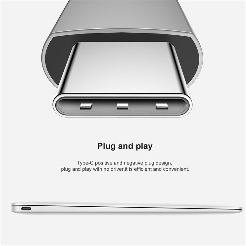 Baseus Universal USB C Male to HDMI USB 3.0 Type C Female Adapter O-Type HUB Converter Cable For MacBook MateBook Chrome Book - Hot Phone Tech