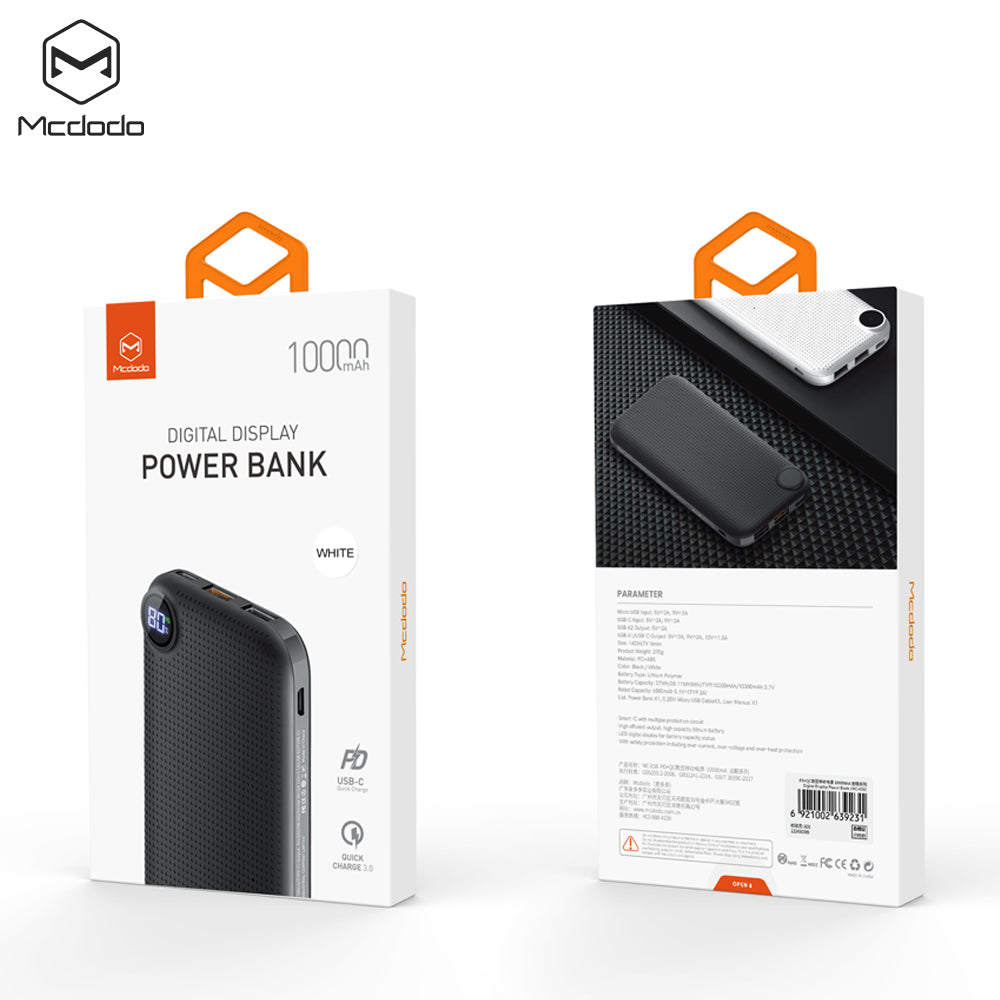 MCDODO PD+QC digital display power bank  Dual USB Output Mobile Power Case Module DIY Kit External Battery Charger Box Housing For iPhone Sony Samsung LG HUAWEI Google - Hot Phone Tech