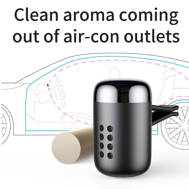 Baseus Metal Car Perfume Air Freshener Aromatherapy Solid for Car Air Vent Outlet Freshener Air Condition Clip Diffuser - Hot Phone Tech