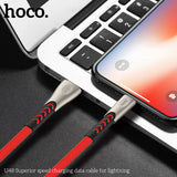 HOCO Durable Nylon USB Cable for iPhone Xs Max Xr X 8 7 6 6s Alloy Data Sync Fast Charging Cable For iPhone Charger Data Cable - Hot Phone Tech
