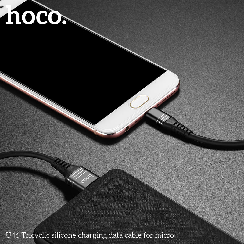 HOCO U46 Silicone Micro USB Fast Charging Data Sync Charger Phone Cable for Android Phones for Huawei Samsung Sony LG HUAWEI Google USB Charger Cable - Hot Phone Tech