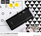HOCO 15000mAh 18650 USB Power Bank with LED Table Lamp And Power Source Portable External Battery Universal Mobile Phone Charger - Hot Phone Tech