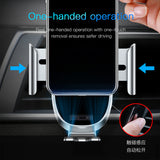 Baseus Auto-locked Car Phone Holder Gravity Sensor Mobile Phone Holder in car For iPhone Xs Max XR Samsung LG Google HTC HUAWEI Car smartphone support holder - Hot Phone Tech