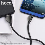 HOCO U62 USB Type C Fast Charging USB C Cable L Type-c 3.1 Data Cord Charger For Samsung LG HTC Google HUAWEI - Hot Phone Tech