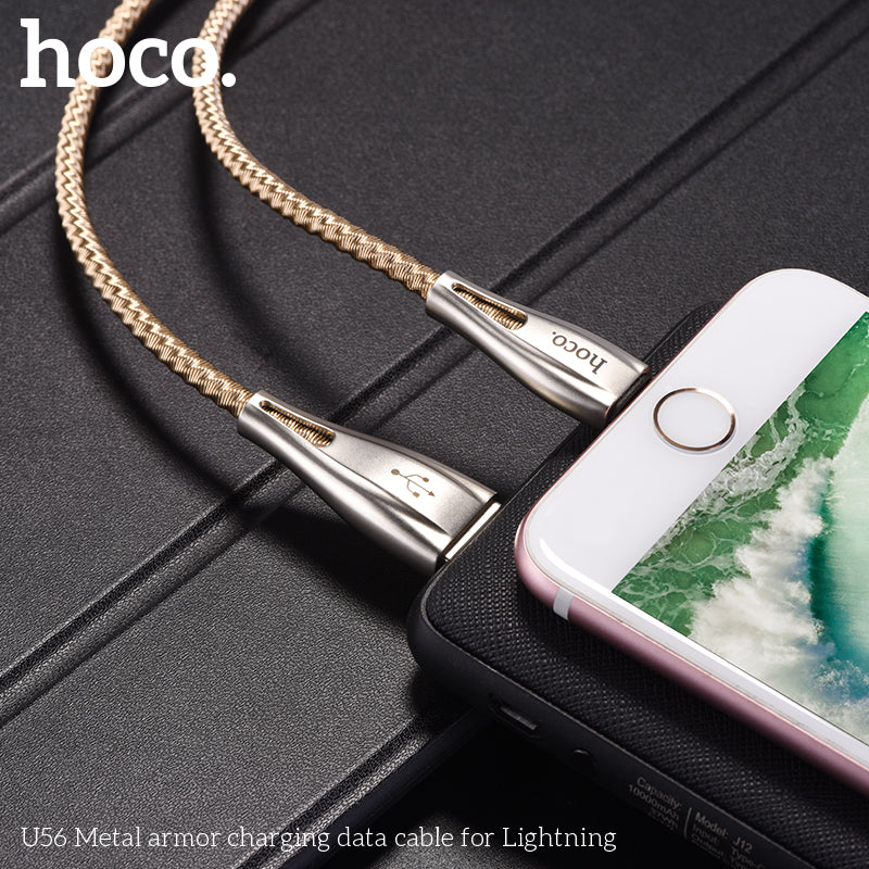 HOCO Cable USB A To Lightning Fast Charging Data SYNC Wire Stainless Steel Spring Braid Cord Charger For Apple iPhone XS MAX XS XR 8 7 6 Plus iPad - Hot Phone Tech