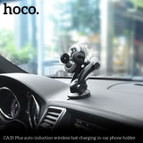 HOCO Smart infrared Sensor Car Phone Holder for iPhone XS MAX Fast QI  Samsung Google LG HUAWEI Sony Wireless Charger Air Vent Mount Mobile Phone Holder Stand - Hot Phone Tech