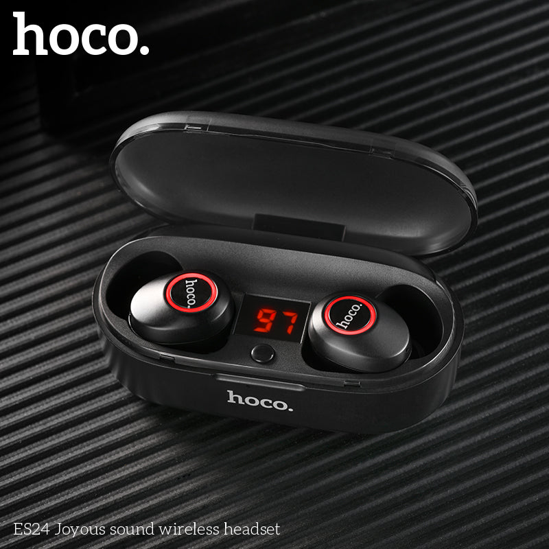 HOCO NEW Mini Twins Bluetooth 5.0 Earphone 3D Stereo Invisible True Wireless Earphone Bass Sound Sport Headset with Power bank - Hot Phone Tech